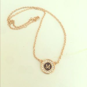 "Jewelry - New ""M"" Initial Statement Necklace"
